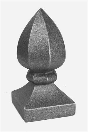 "Finial, C.I. (Fits Over 3""Sq)"