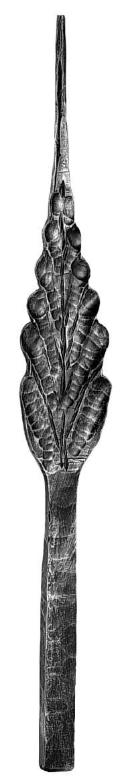 """Leaf, Flat, Medium (25-1/2""""H,3-9/16""""W)"""