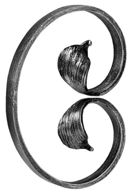 """'C' Scroll(14""""H, 9-7/8""""W, Mtl.1-1/4x3/8)"""