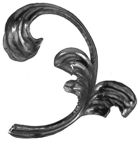 "Leaf, Steel (4"" x 4"" x 1/8""Mtl) Left"