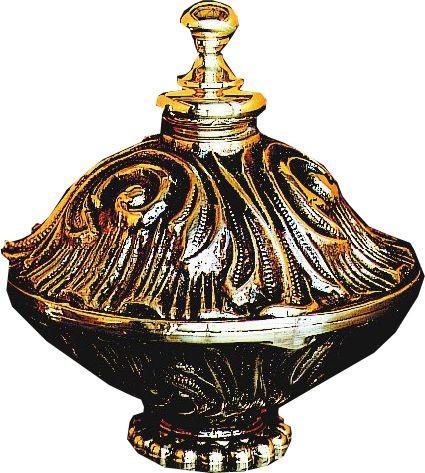 """Bronze Finial(4""""D, 4-5/16""""H,1-9/16""""RdBs)"""