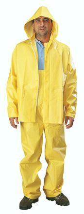 35mil Rain Suit, XL, YELLOW PVC 3 PIECE
