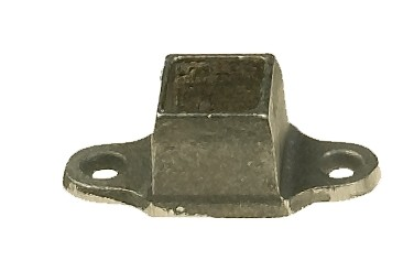"""Cast Iron Shoe For 1/2"""" Tubing - 2 Holes"""
