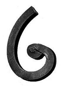 "Scroll, Forged (2-9/16""x4-1/8"", 1/2""Sq)"