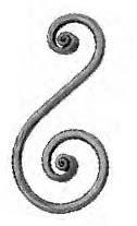 "'S' Scroll (4-3/4""W, 8-5/8""H, 1/2""Rd.)"