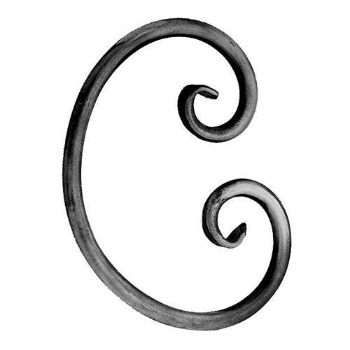 """'C' Scroll (1/2""""RdBr, 6-5/16""""W, 8-7/8""""L)"""