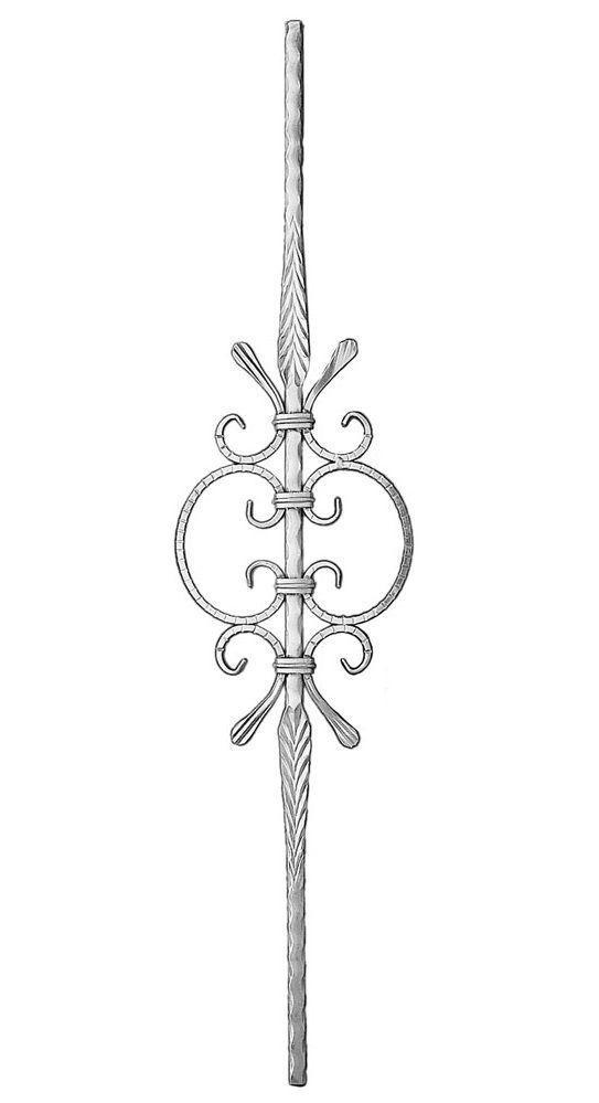 Stamped Alum. Picket W/Scrolls