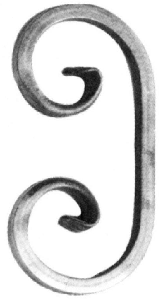 """'C' Scroll (9/16""""Sq, 4-5/16""""W, 7-7/8""""H)"""