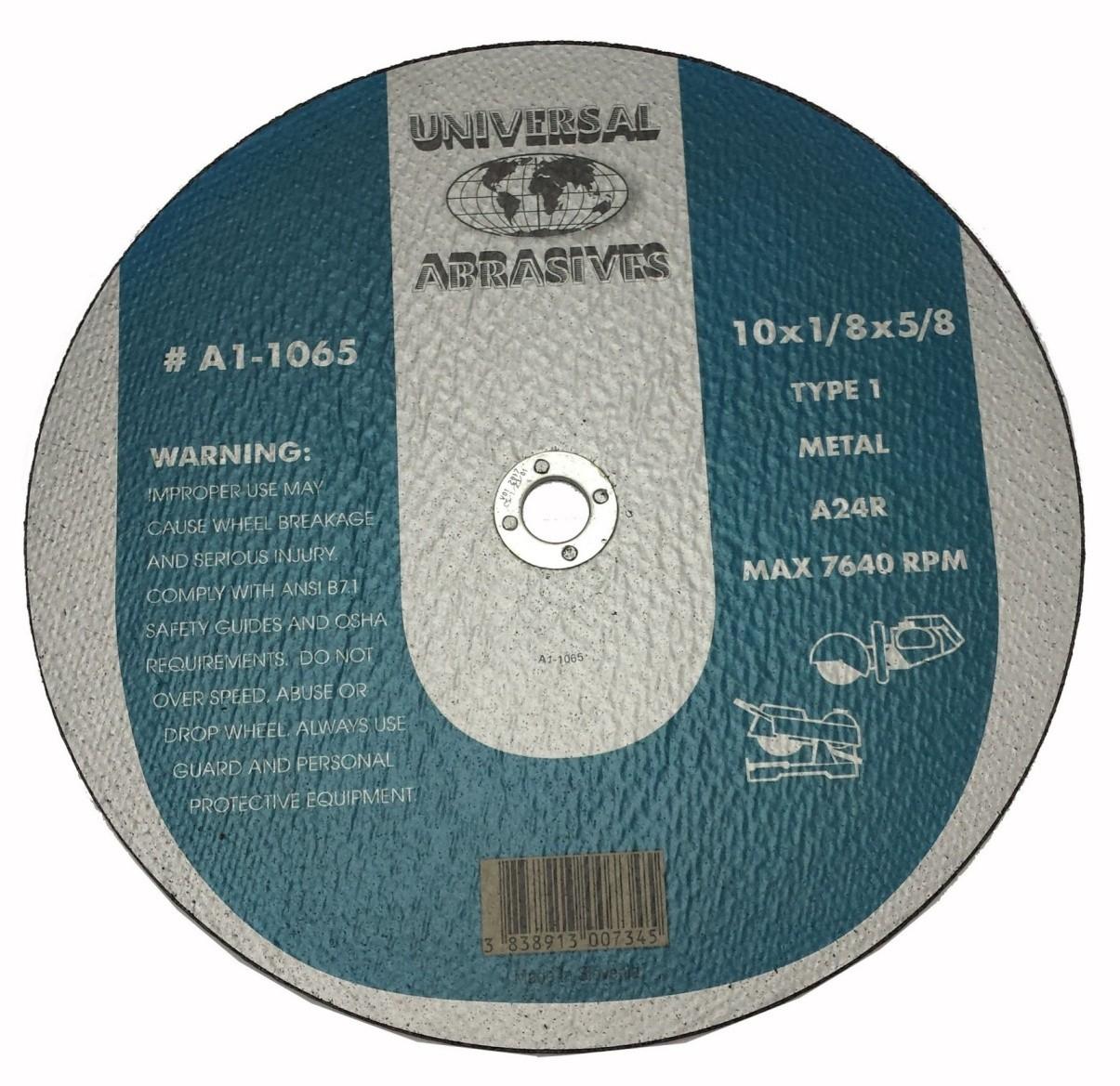 10x1/8x5/8 A24R Metal Cut-Off Type-1