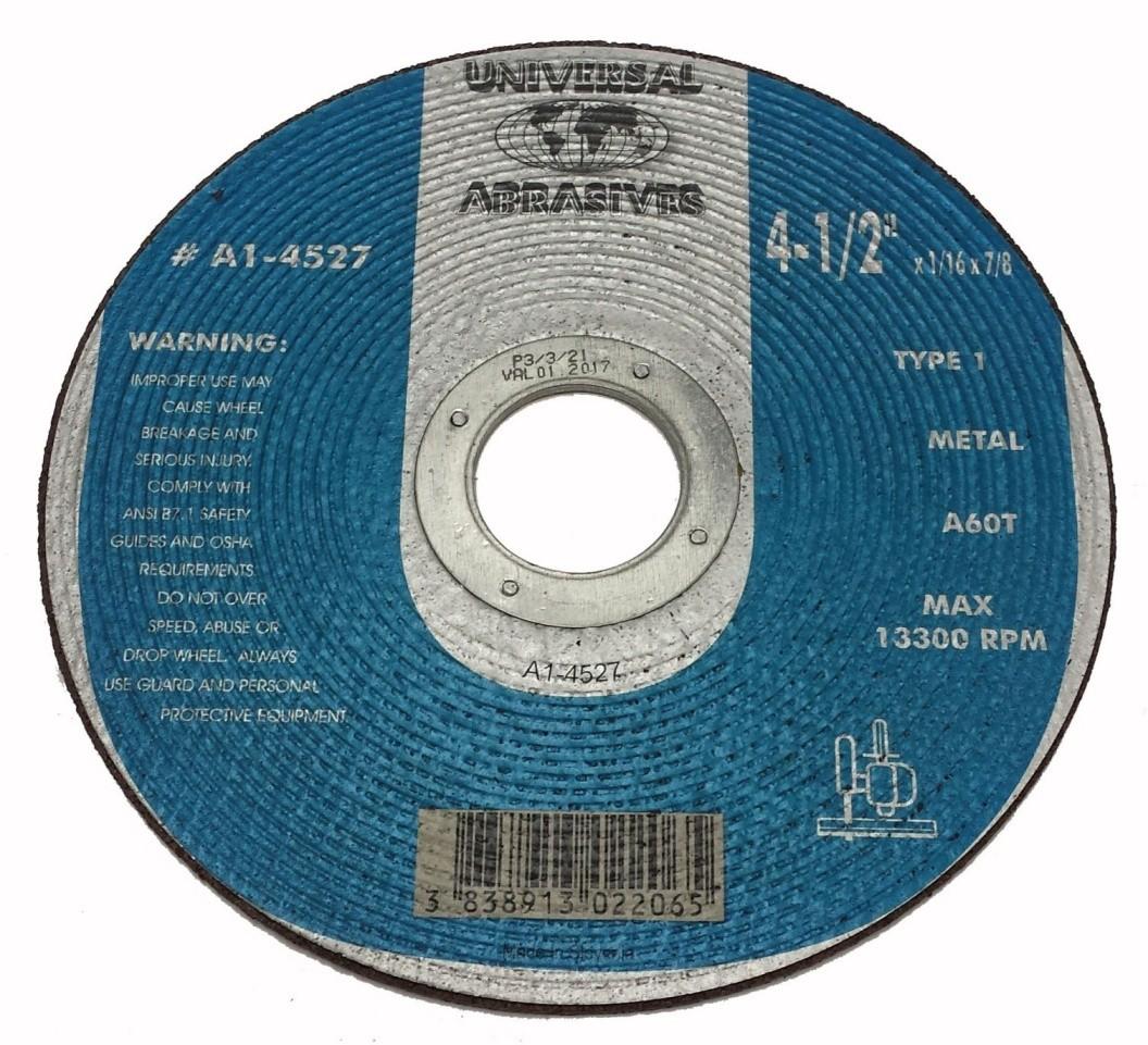 4-1/2x1/16x7/8 A46T Metal Cut-Off T-1