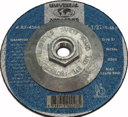 4-1/2x1/8x5/8-11 A24R Metal Cut-Off T-27