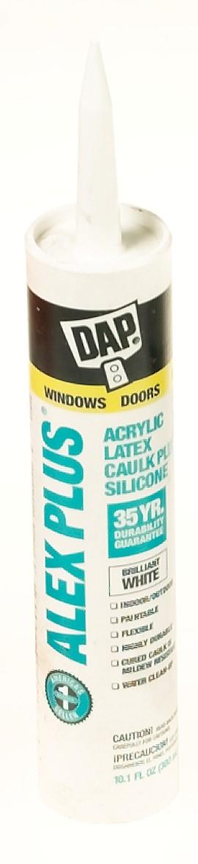 DAP Alex Plus Latex Caulk, White, 10.1oz