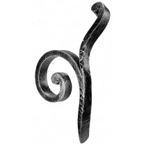"""Forged Scroll (4""""W, 9-1/2""""H, 3/4"""") Left"""