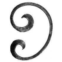 "'C' Scroll Forged Ribbon end(11""x8-1/4"")"