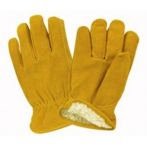 Cowhide Driver Glove W/Pile Linning