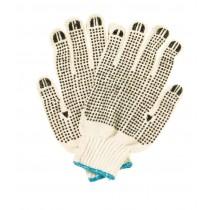 White Yarn Knit Wrist Glove PVC Dots