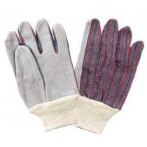 Knit Wrist Leather Palm Glove, Shoulder