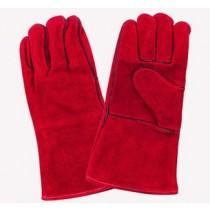 Red Welders Gloves, Select Side Split.