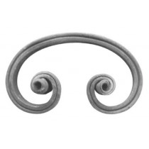 "C-Scroll W/Horns (mtl.5/8x5/16""Grv)"
