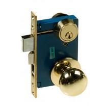 Mortise Lock, Round Knob, P/B-US3, Left