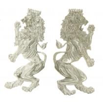 Lions, Large, Cast Alum, R/L Sold By PR