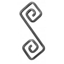 "'S' Scroll, (1/2""Sq, 13-3/4""H, 5-3/4""W)"
