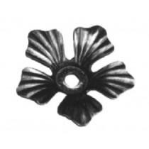 """3-1/2"""" Stamped Steel Flower, 14 Gauge"""