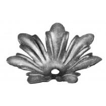 Rose w/Leaves, Stamped Sheet Metal