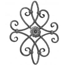 "Rosette w/DF Flower (16-3/4"" x 20-3/4"")"