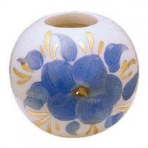 Ceramic Ball w/Hand Painted Flower