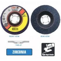 4 x 5/8 Flap Disc Zirconia 60-Grit T-27