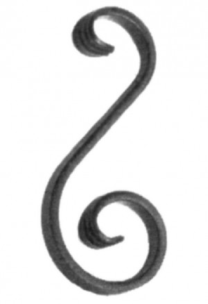 'S' Scroll With Forged Ends