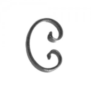 'C' Scroll With Forged Ends, 1-3/4x3-1/8